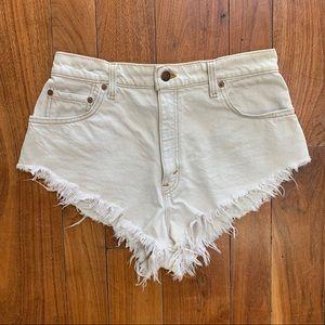Levi's White Cheeky 551 Jean Shorts
